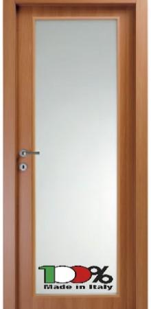 דלת למינטו (פורמייקה) בגוון טנגניקה בתוספת זכוכית טיבולי