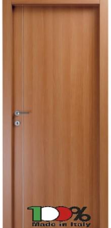 דלת למינטו (פורמייקה) בגוון טנגניקה בתוספת פס אורך ניקל