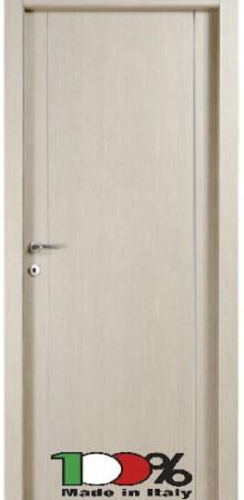 דלת למינטו (פורמייקה) בגוון קונציגיליה בתוספת 2 פסי אורך ניקל