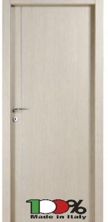 דלת למינטו (פורמייקה) בגוון קונציגיליה בתוספת פס אורך ניקל