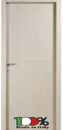 דלת למינטו (פורמייקה) בגוון קונציגיליה בתוספת 2 פסי רוחב ניקל