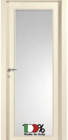 דלת למינטו (פורמייקה) בגוון שמנת בתוספת זכוכית טיבולי