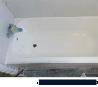 במהלך ציפוי אמבטיה