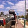 המשאית שלנו גוררת באיזור המרכז