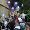 הפרחת בלונים לאחר הטקס המרגש